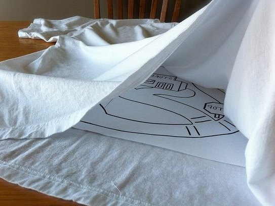 Нанесение рисунка на футболку для папы (4)