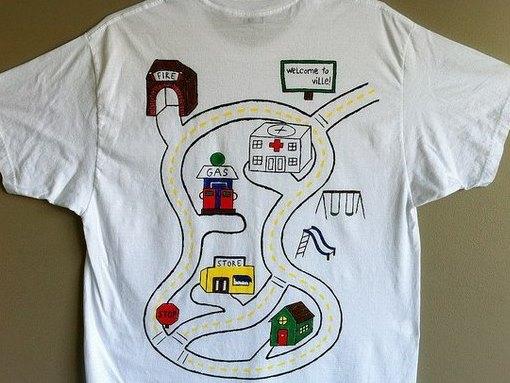 Нанесение рисунка на футболку для папы (5)