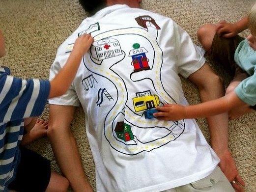Нанесение рисунка на футболку для папы (1)