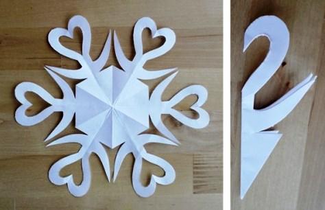 Как сделать снежинку из бумаги (4)