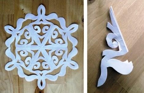 Как сделать снежинку из бумаги (5)