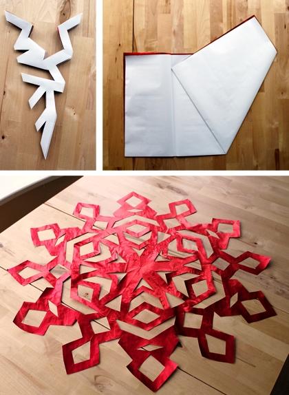 Как сделать снежинку из бумаги (6)