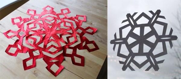 Как сделать снежинку из бумаги (1)