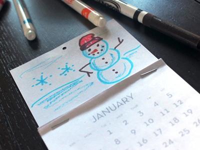 детский календарь своими руками (1)