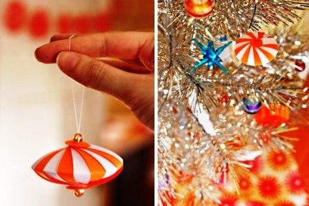 Бумажные украшения на Новый Год (1)