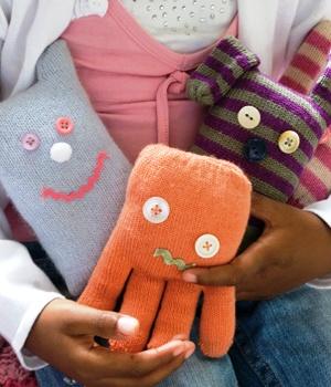 Игрушки из перчаток своими руками для детей