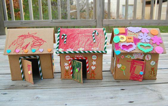 Как сделать домик из коробки из под бумаги