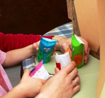 Сова из рулона туалетной бумаги (6)