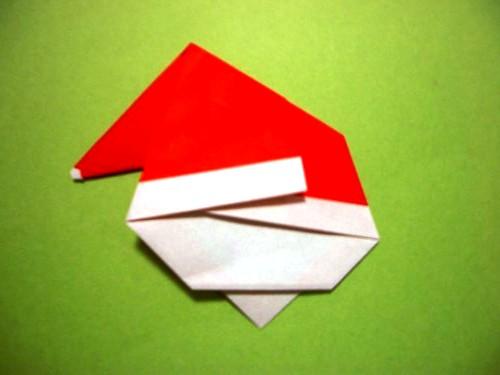 Бумажный Дед Мороз (10)