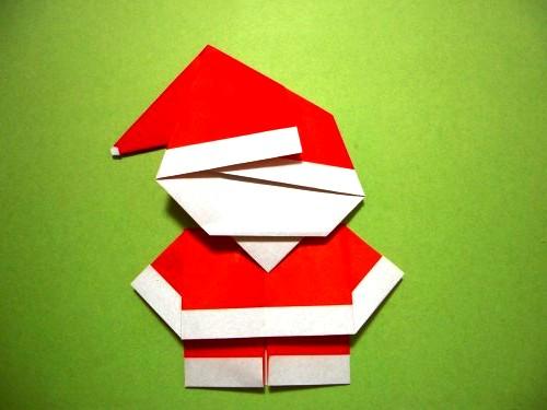 Бумажный Дед Мороз (21)