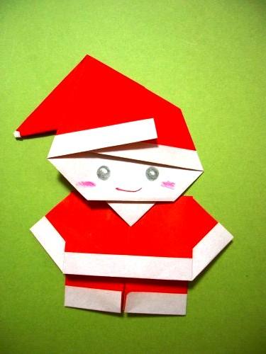 Бумажный Дед Мороз (22)