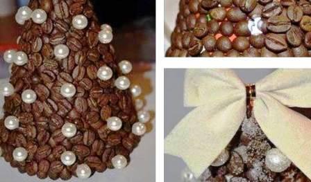 Елки из кофейных зерен (3)