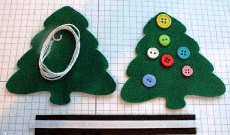 Рождественская елочка из фетра или войлока  (2)