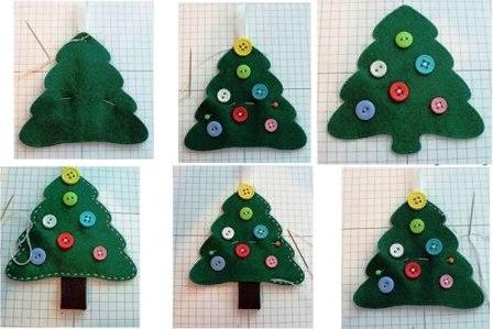 Рождественская елочка из фетра или войлока  (3)