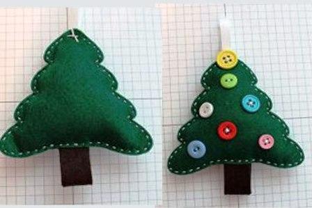 Рождественская елочка из фетра или войлока  (4)