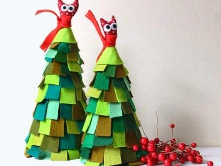Рождественская елочка из фетра или войлока  (5)