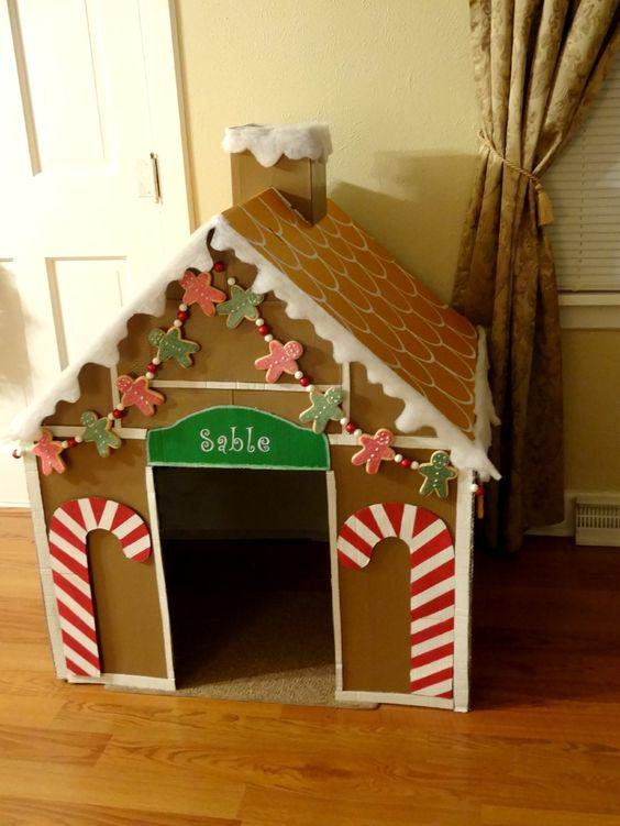 Как сделать новогодний домик (1)