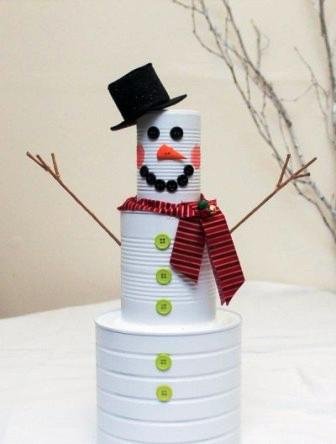 Креативный снеговик своими руками (1)