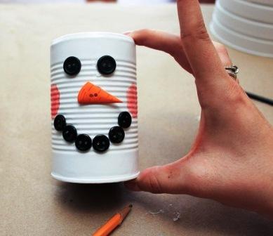 Креативный снеговик своими руками (4)