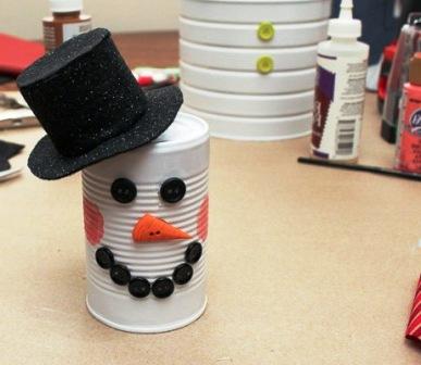 Креативный снеговик своими руками (11)