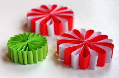 Новогодние украшения цветы (3)
