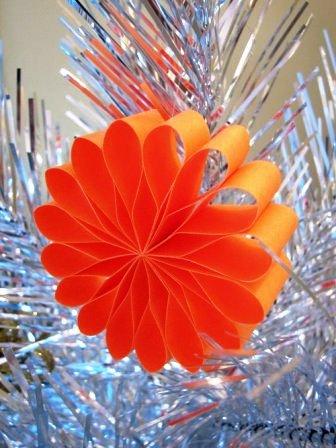 Новогодние украшения цветы (2)