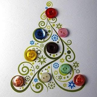 Картинки по запросу новогодние открытки  из пуговиц
