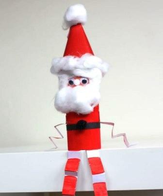 Как сделать из бумаги Деда Мороза (1)