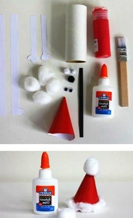 Как сделать из бумаги Деда Мороза (2)