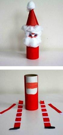 Как сделать из бумаги Деда Мороза (3)