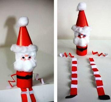 Как сделать из бумаги Деда Мороза (4)