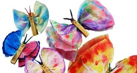 Как сделать бабочку из салфетки999