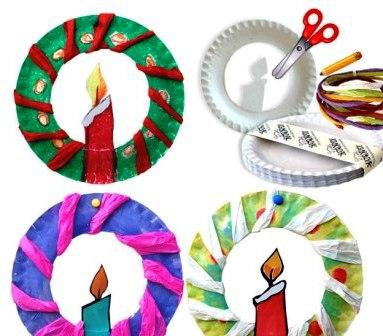 Поделки из бумажных тарелок (4)