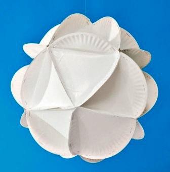 Поделки из бумажных тарелок (6)