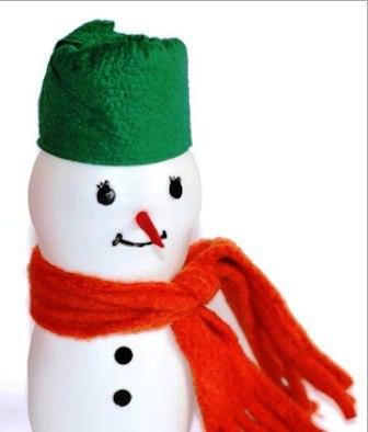 Как сделать объемного снеговика (1)