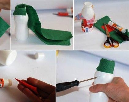 Как сделать объемного снеговика (2)