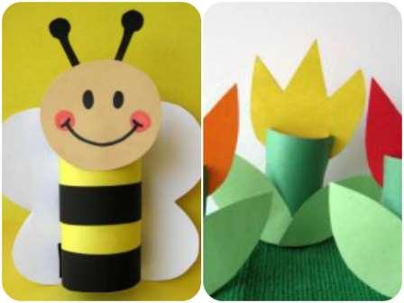 детские поделки с цветной бумаги