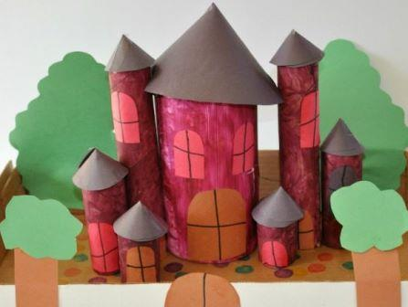Замок из картона своими руками (1)