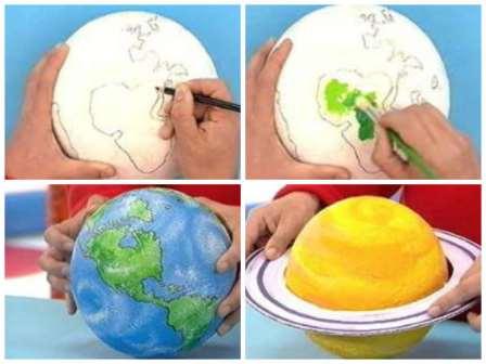 Как сделать из пластилина планету фото 818