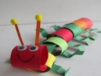 Поделка гусеница из бумаги (7)