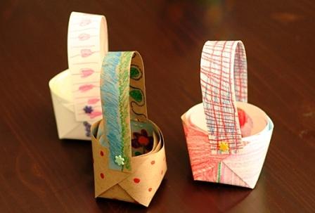 Бумажная корзина своими руками (1)