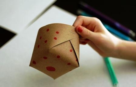 Бумажная корзина своими руками (4)