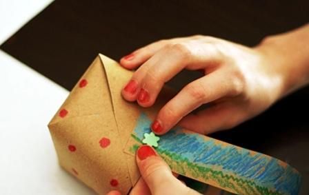 Бумажная корзина своими руками (6)