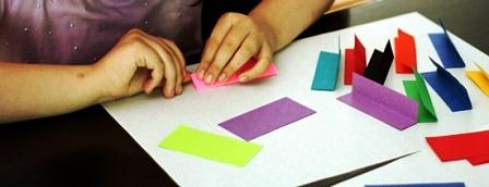Как склеить куб из бумаги (2)