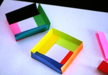 Как склеить куб из бумаги (3)