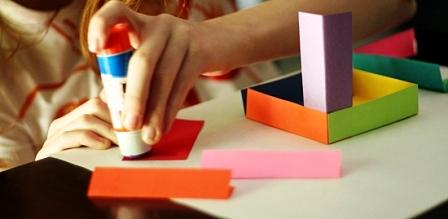 Как склеить куб из бумаги (4)