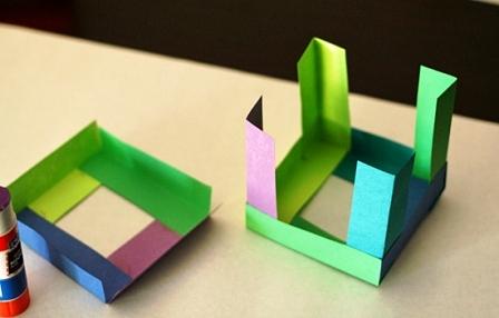Как склеить куб из бумаги (5)