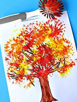 Детский рисунок на тему осень (9)