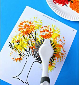 Детский рисунок на тему осень | Поделки для детей