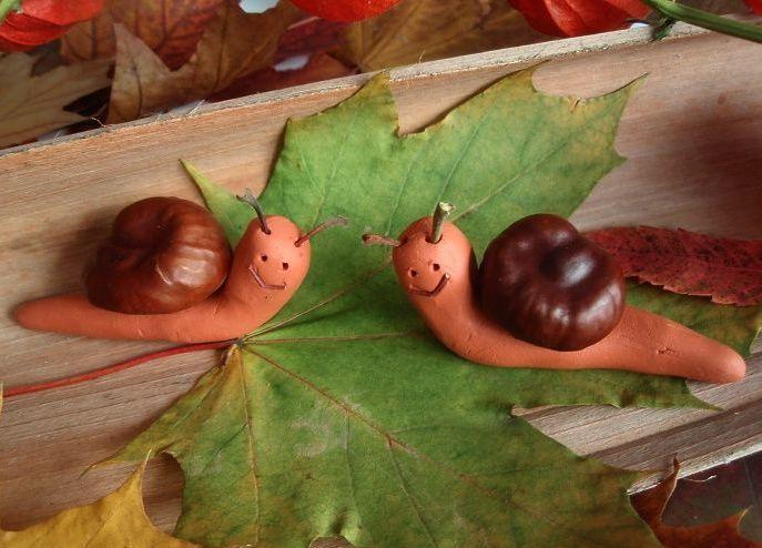 Осенние поделки из каштанов (6)